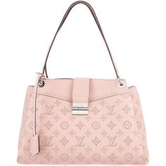 Pre-owned Louis Vuitton S?vres Mahina Bag ($3,200) ❤ liked on Polyvore featuring bags, handbags, pink, monogrammed handbags, monogrammed leather purse, louis vuitton purse, real leather handbags and zip lock bags