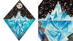 new #kickstarter project #crowdfunding Geometric Iceberg Illustrations: Original Paintings & Prints by Emily Lucy Browne