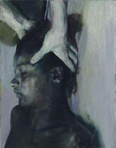 Justin Mortimer   Works   'Cult II', 2011, oil on canvas, 45 x 35 cm