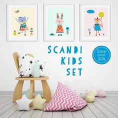 Nursery Wall Art Scandi Nursery Prints Nursery Prints Nursery Prints, Nursery Wall Art, Girl Nursery, Wall Art Prints, Little Girl Rooms, Wall Art Sets, Modern Room, Printable Wall Art, Etsy