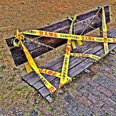 今日のランニングは距離少なめだった。一人だと疲れる。関係ないけど、このベンチ立ち入るのは無理だろう。 - @mattyinstagram- #webstagram