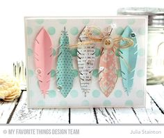 Patterned Feathers Card