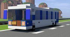 Bus Minecraft Project - Minecraft World Villa Minecraft, Minecraft Modern City, Minecraft Car, Minecraft Shops, Minecraft City Buildings, Minecraft Building Guide, Minecraft Mansion, Easy Minecraft Houses, Minecraft House Designs
