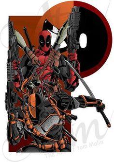 02550d46da8d4 Merc Deadpool deathstroke team Up