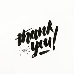 Thank You Hand Lettering Typography Design