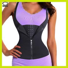 a64e4f6dcfe07 Adjustable Shoulder Strap Waist Trainer Vest Corset Women Zipper Hook Body  Shaper Waist Cincher Tummy Control