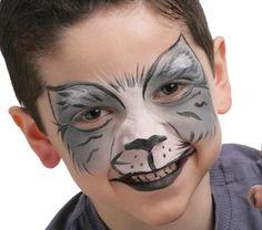 Grimtout, maquillage à l'eau - chat gris. Maquillage professionnel sans paraben spécialement conçu pour les peaux délicates