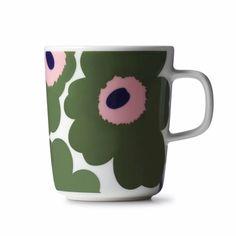 Marimekko Unikko Green / Pink Mug