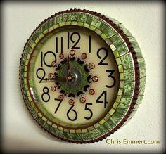 mosaic art clock