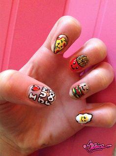 I ♡ Junk Food Nails