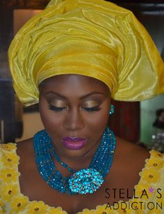 Glam in All Yellow #NigerianBeauty #Makeup