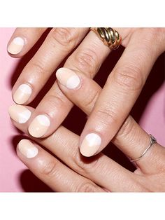 23 So-Pretty Bridal Manicure Ideas French Manicure Designs, Nail Art Designs, Fancy Nails, Pretty Nails, Kendall Jenner, Half Moon Manicure, Bridal Nail Art, Wedding Manicure, Gel Manicure