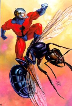 #Ant #Man #Fan #Art. (Ant Man) By: Julie Bell.  (THE * 5 * STÅR * ÅWARD * OF: * AW YEAH, IT'S MAJOR ÅWESOMENESS!!!™)[THANK U 4 PINNING!!!<·><]<©>ÅÅÅ+(OB4E)