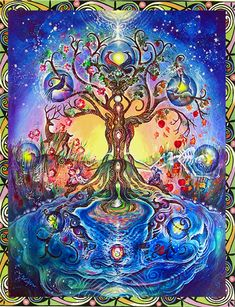 """Tree of Life by Willow Arlenea - """"The Tree of life is a map, a flow pattern, that all the spiritual traditions are based on. Originating in the times of the Great Goddess, the Tree is a metaphor of how lifeforce consciousness emerges from the collective (Mother Goddess) differentiates, & then merges again into oneness."""""""