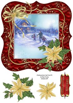 Possible way to embellish vintage Christmas card images