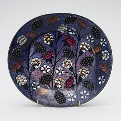 Birger Kaipiainen Pottery Plates, Ceramic Pottery, Knick Knack, Thistles, Blackberries, Eclectic Decor, Ceramic Artists, Finland, Old Things