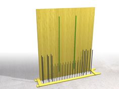 The two longitudinal track spacers are nailed upon the formwork