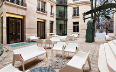 Magic hole outdoor Sofa and armchair, and invisible side table crystal, #kartellUAE #designer #furniture #homedecor #interior #home #style #furnituredesign #dubai #design #KartellDubai #Contract