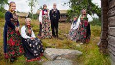Sigdalsbunader Folk Costume, Costumes, Norway, Scandinavian, Textiles, Patterns, Floral, Skirts, Fashion