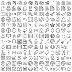Set of linear web icons Free Vector