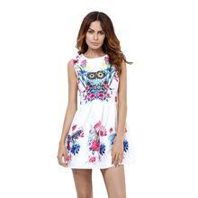 Qualidade moda dress impressão vintage ropa casuais brancos vestidos de festa roupas femininas outono mulheres escritório senhoras vestidos de festa(China (Mainland))