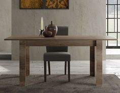 Table à manger contemporaine couleur chêne TOLEDA 2 Office Desk, Dining Bench, Furniture, Home Decor, Contemporary Dining Table, Color, Desk Office, Decoration Home, Desk