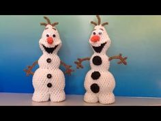 New Olaf Loomigurumi Amigurumi Frozen Snowman Part 2 - Rainbow Loom Band Crochet Hook Only - YouTube