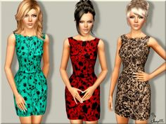 Happy Spring dress by Margeh75 - Sims 3 Downloads CC Caboodle