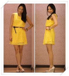 Vestido de renda amarelo  Amei esse!!! - Pesquisa Google