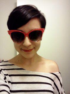 cutie! sunglasses.hair.