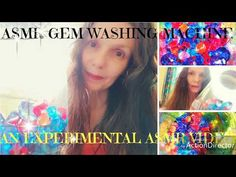 Asmr with colorful gems! A very relaxing visual and aural experience of various sounds of plastic gems tumbling in a transparent plastic jar. Asmr, Washing Machine, Colorful, Autonomous Sensory Meridian Response