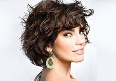 """Short hairstyles for wavy hair - like this - is it too """"grown up""""?  God, I AM grown up! Ugh."""