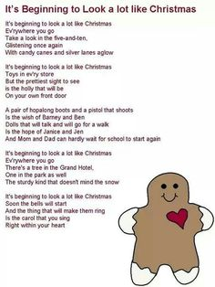 It's Beginning to Look a Lot Like Christmas lyrics Christmas Carols Songs, Christmas Songs Lyrics, Christmas Sheet Music, Favorite Christmas Songs, Xmas Music, Great Song Lyrics, Songs To Sing, Christmas To Do List, Christmas Holidays