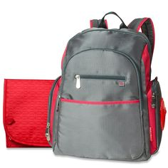Fisher-Price Ripstop Backpack Diaper Bag, Grey