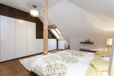 Ložnice v podkroví Furniture, Home Decor, Decoration Home, Room Decor, Home Furnishings, Home Interior Design, Home Decoration, Interior Design, Arredamento