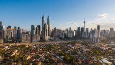 Time lapse: Beautiful afternoon view of Kuala Lumpur city center overlooking an under developed area of the city of Kuala Lumpur, Malaysia. Kuala Lampur, Kuala Lumpur City, Time Lapse Photography, Free Stock Video, City Life, Watercolor Flowers, San Francisco Skyline, Scenery, Photography Tutorials