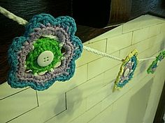 Cute flower motif for a garland or accent
