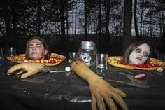 halloween haunted house camping scene - Google Search