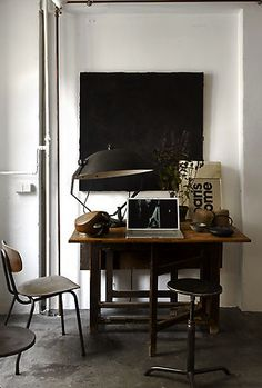 108 best home office vintage industrial images workplace rh pinterest com