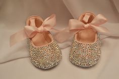 Pink Baby Rhinestone Shoes