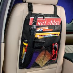 """Car Seat Organizer from """"Getting Organized: Taking Your Life on the Road"""""""