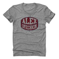 ce5b21c61 Alexander Ovechkin Puck R Washington Officially Licensed NHLPA Womens Scoop  Neck T-Shirt S-