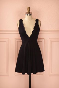 Black Short A-Line Homecoming Dress Straps satin homecoming dress sweet 16 birthday party gowns MT20185681