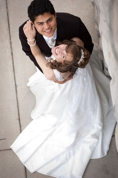 Can't beat the fun on a wedding day, except for maybe the smiles the couple's faces.