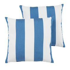 Shop for Duvall Sunbrella Cabana Regatta Indoor/ Outdoor 18 Inch Knife Edge Pillow Set. Outdoor Fabric, Indoor Outdoor, Outdoor Decor, Sunbrella Fabric, Outdoor Living Areas, Pillow Set, Cabana, Throw Pillows, Bed