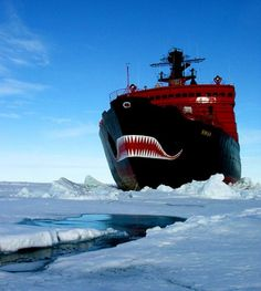 Russian ice breaker... with mouth!