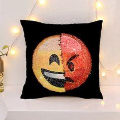 Buy Fashion Cartoon Emoji Sequin Throw Pillow Case Cafe Home Decor Car Sofa Office Funny Cushion Cover at Wish - Shopping Made Fun
