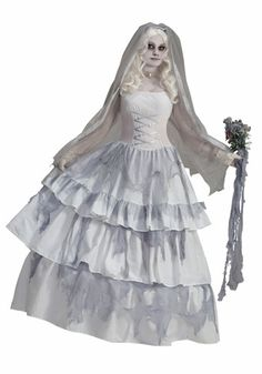 The Victorian Bride Costume Deluxe For Adults is the best 2019 Halloween costume for you to get! Everyone will love this Womens costume that you picked up from Wholesale Halloween Costumes! Ghost Bride Costume, Halloween Bride Costumes, Wholesale Halloween Costumes, Halloween Cosplay, Spirit Halloween, Halloween Ideas, Halloween Party, Women Halloween, Vintage Halloween