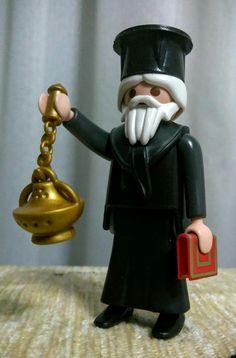 Custom playmobil figure Greek Orthodox Priest by Brother William