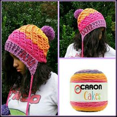 Crocheted by Dalis T. Jones using Crochet easy hat for adults - with Ruby Stedman and Caron Cakes yarn https://www.youtube.com/watch?v=kytcwPAMkMc&app=desktop